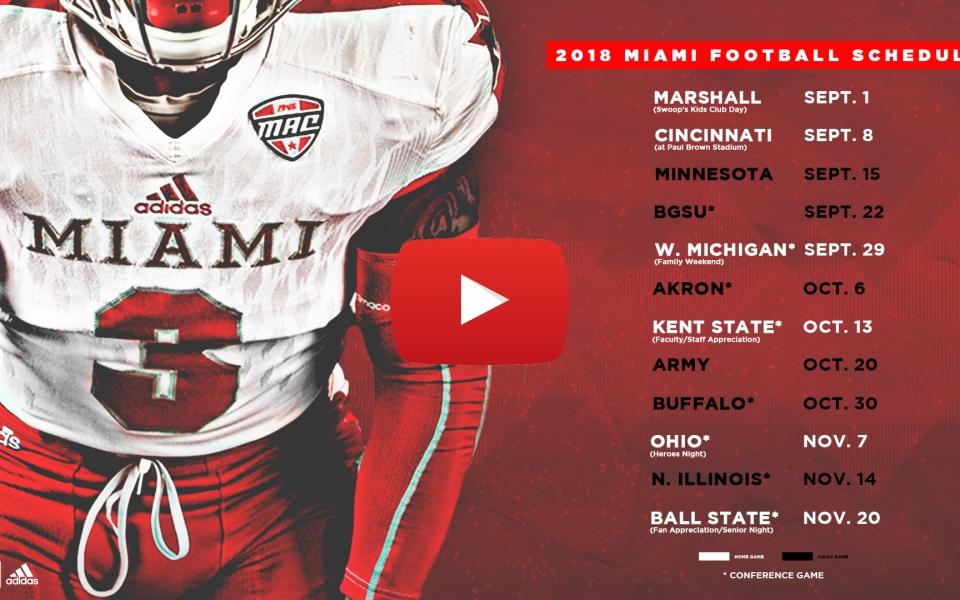 Miami Announces 2018 Football Schedule
